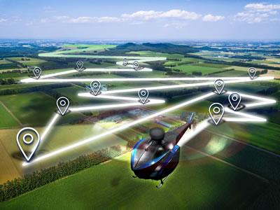 Programmed automatic flight.